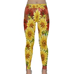 Sunflowers Flowers Abstract Classic Yoga Leggings