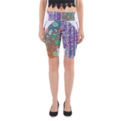 Vintage Style Floral Butterfly Yoga Cropped Leggings