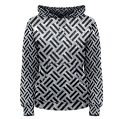 Woven2 Black Marble & Gray Marble (r) Women s Pullover Hoodie