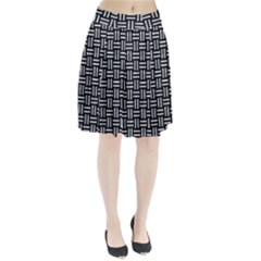 Woven1 Black Marble & Gray Marble Pleated Skirt