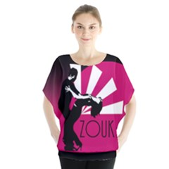 Zouk   Forget The Time Batwing Chiffon Blouse