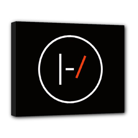 Twenty One Pilots Band Logo Deluxe Canvas 20  X 16