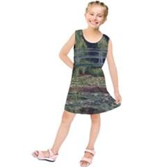 The Japanese Footbridge By Claude Monet Kids  Tunic Dress