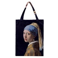 Girl With A Pearl Earring Classic Tote Bag