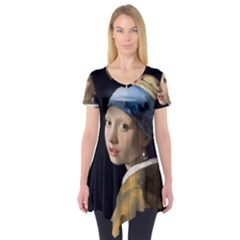 Girl With A Pearl Earring Short Sleeve Tunic