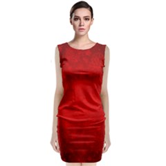 Decorative Red Christmas Background With Snowflakes Classic Sleeveless Midi Dress
