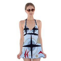 Compass Halter Swimsuit Dress