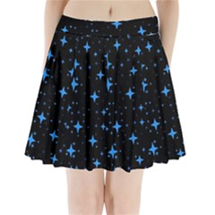 Bright Blue  Stars In Space Pleated Mini Skirt
