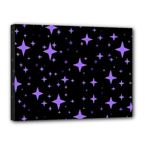 Bright Purple   Stars In Space Canvas 16  x 12
