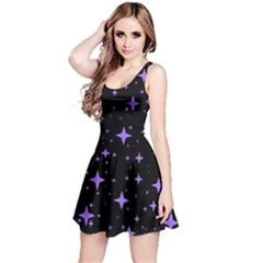Bright Purple   Stars In Space Reversible Sleeveless Dress