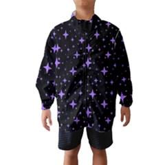 Bright Purple   Stars In Space Wind Breaker (kids)