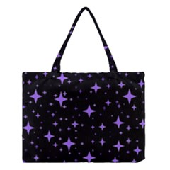 Bright Purple   Stars In Space Medium Tote Bag