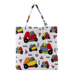 Toy Cars Pattern Grocery Tote Bag