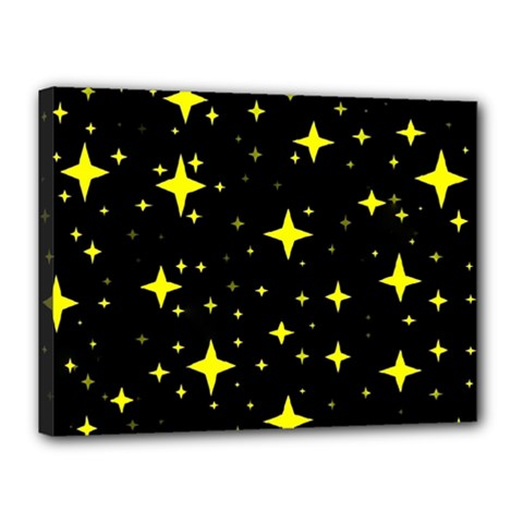 Bright Yellow   Stars In Space Canvas 16  x 12