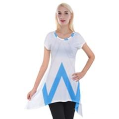 Alan Walker  Logo Short Sleeve Side Drop Tunic