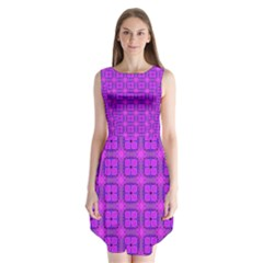Abstract Dancing Diamonds Purple Violet Sleeveless Chiffon Dress
