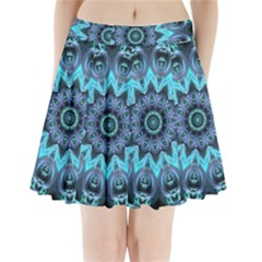 Star Connection, Abstract Cosmic Constellation Pleated Mini Skirt