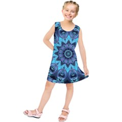 Star Connection, Abstract Cosmic Constellation Kids  Tunic Dress