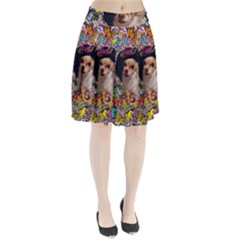 Chi Chi In Butterflies, Chihuahua Dog In Cute Hat Pleated Skirt