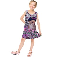 Chi Chi In Flowers, Chihuahua Puppy In Cute Hat Kids  Tunic Dress