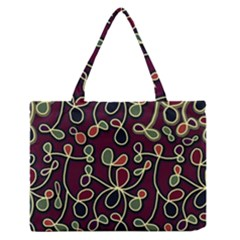 Elegant Decorative Pattern Medium Zipper Tote Bag