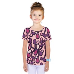 Pink And Purple Pattern Kids  One Piece Tee
