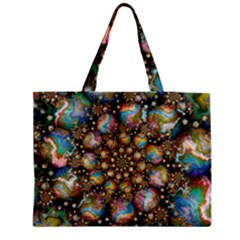 Marbled Spheres Spiral Medium Zipper Tote Bag