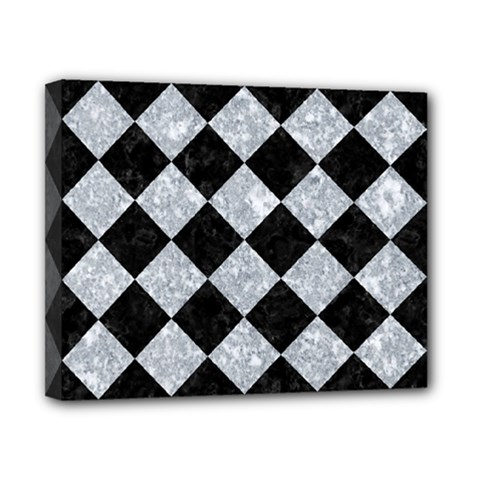 Square2 Black Marble & Gray Marble Canvas 10  X 8  (stretched)