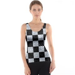 Square1 Black Marble & Gray Marble Tank Top