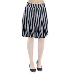 Skin4 Black Marble & Gray Marble (r) Pleated Skirt