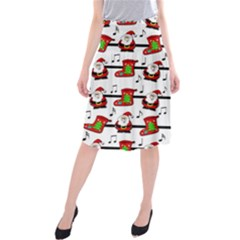 Xmas song pattern Midi Beach Skirt