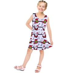 Xmas song pattern Kids  Tunic Dress