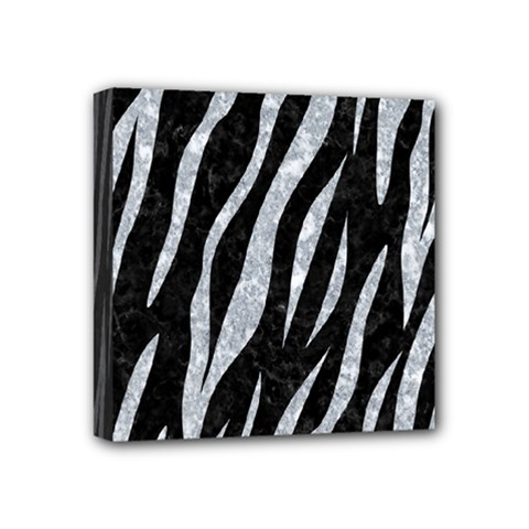 Skin3 Black Marble & Gray Marble Mini Canvas 4  X 4  (stretched)