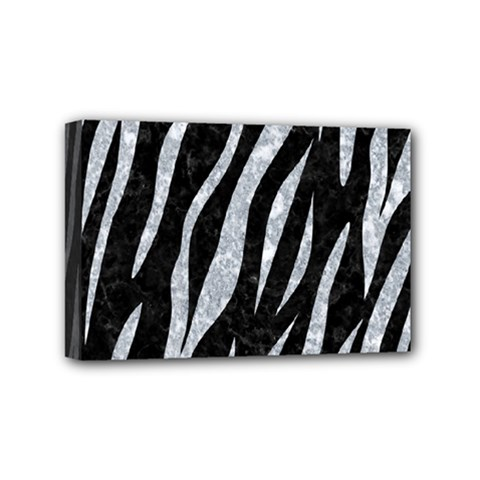 Skin3 Black Marble & Gray Marble Mini Canvas 6  X 4  (stretched)