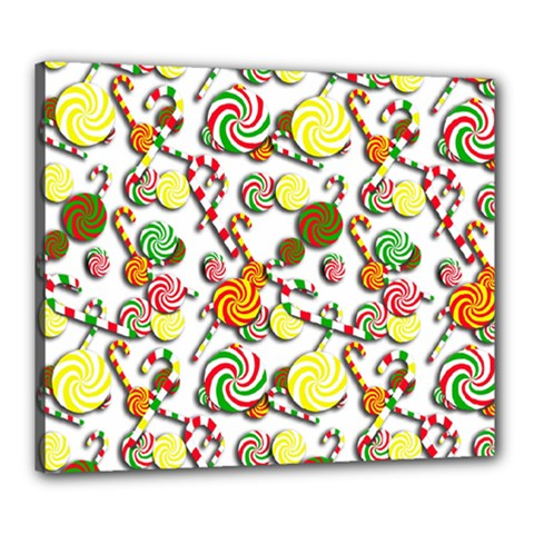 Xmas candy pattern Canvas 24  x 20