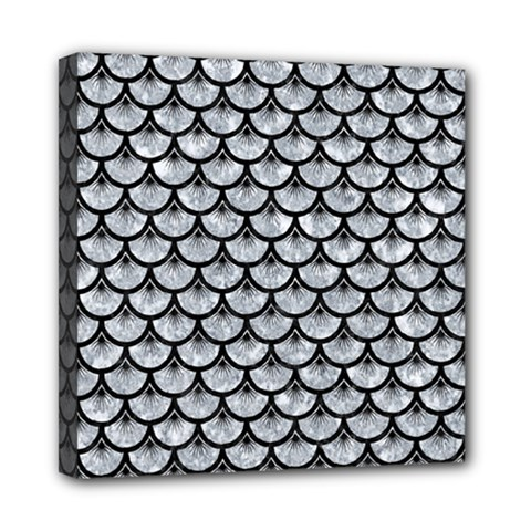 Scales3 Black Marble & Gray Marble (r) Mini Canvas 8  X 8  (stretched)