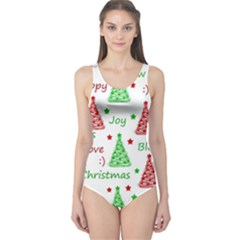New Year pattern One Piece Swimsuit