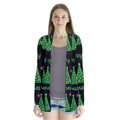 New Year pattern - red and green Cardigans