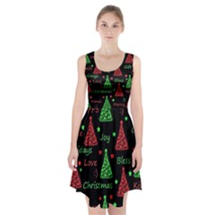 New Year Pattern   Red And Green Racerback Midi Dress