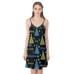 New Year pattern - blue and yellow Camis Nightgown