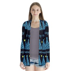 New Year Pattern   Blue And Yellow Cardigans