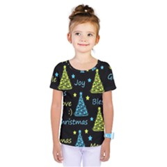 New Year Pattern   Blue And Yellow Kids  One Piece Tee