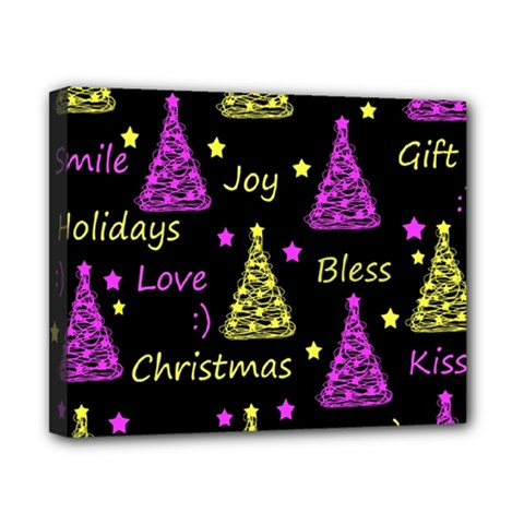 New Year Pattern   Yellow And Purple Canvas 10  X 8