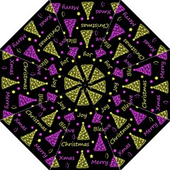 New Year Pattern   Yellow And Purple Straight Umbrellas