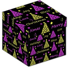 New Year Pattern   Yellow And Purple Storage Stool 12