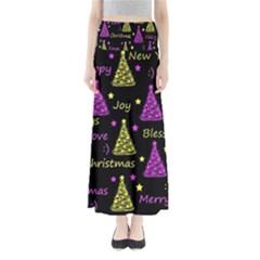 New Year Pattern   Yellow And Purple Maxi Skirts