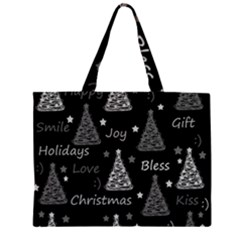 New Year pattern - gray Large Tote Bag