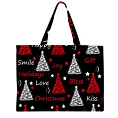 New Year pattern - red Large Tote Bag