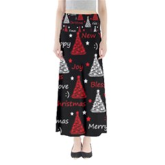 New Year pattern - red Maxi Skirts