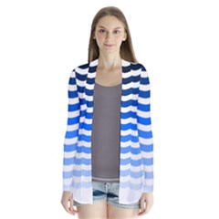 Water White Blue Line Cardigans